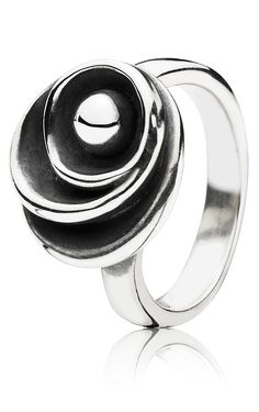 Scandinavian Design - Ring in Sterling Silver Oxidised. New Nordic Design