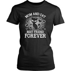 Mom And Cat Best Friend Forever Women's T-Shirt - Tee Republic