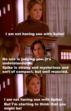 Weird how when he thought Buffybot was Buffy, he was OK with the Spike sex, but when she really did have sex with Spike he freaked out! Xander is wishy washy.