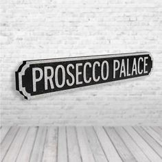 Gin Palace Free Standing Shabby Vintage Chic Sign Bar Plaque Drinks Sign