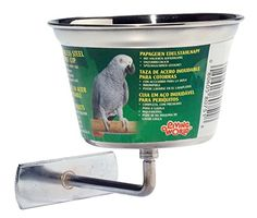 Pet Supplies Bird Supplies Aggressive 5 Parrot Cockatiel Bath 20cm Clamps On Removeable Stainless Steel Bath Parakeet