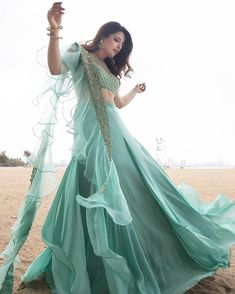 If you\'ve got that soft spot for big elaborate designs, intricate details and sensational colors,… Indian Wedding Gowns, Desi Wedding Dresses, Indian Gowns Dresses, Bridal Dresses, Prom Dresses, Designer Party Wear Dresses, Indian Designer Outfits, Indian Outfits, Designer Wear