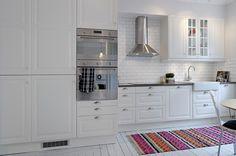 bright white kitchen in Sweden