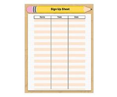 Blank Sign In Sheet   Pinteres