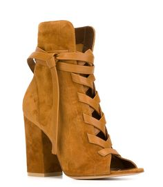 GIANVITO ROSSI Brooklyn Luggage Suede Boots @madisonshoes