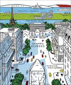 """Floc'h """" Journal d'un New-Yorkais. 15 août 1966, Paris - New-York."""" (éditions Dargaud, 1994). Source : bibliothèque Vert et Plume"""