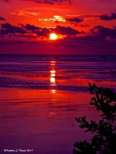 Sunset in purple and orange....