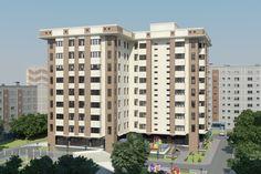 Многоэтажный Жилой Дом.  Multi-storey Residential House. 3D model done by ArchiCad. Render by 3-D Max/Photoshop.
