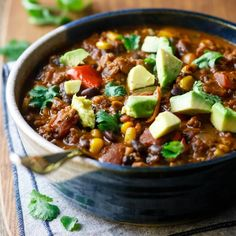 This killer began chili is hearty, spicy and packed with slow-cooked flavor! A great source of fiber, vitamins, nutrients and vegan protein.