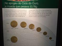 Moedas de ouro no auge do ciclo do ouro - Museu de Valores BCB