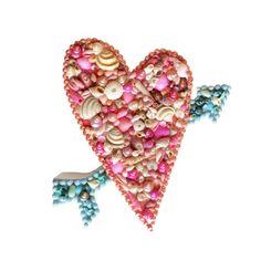 Heart-Shaped Seashell Shelf Art Sailor's by TheMermaidsBox on Etsy