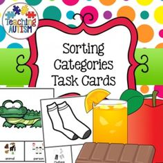 This resource is a growing bundle of different sorting categories task cards. A growing bundle means that more activities will be added to the bundle over time. Purchase in advance to get the best deal.The task cards are in col and b/w option for your preference.I recommend cutting out each card individually and laminating so that they will be stronger and longer lasting.