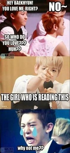 Please. We all know Chanyeol's the one for you Baekkie. Although.... I don't mind sharing.. HAHAHAHA<====THIS