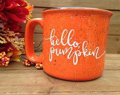 Hello Pumpkin Campfire Mug - Fall Mug, Autumn Mug, Fall Coffee Mug, Pumpkin Mug, Fall Decor, Coffee Lover Gift, Fall Gift