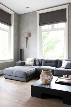grey sectional sofa living room eclectic with shag rug themed wall decals