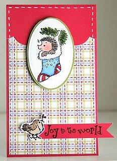 Penny Black Joy to the World card lower res by MMSis1, via Flickr