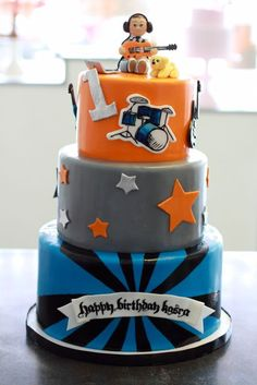 Rockstar Party: Amazing cake for a 1st birthday party for a little rocker boy