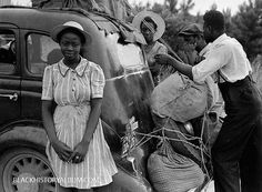 A group of Florida migrant farm workers on their way to Cranberry, New Jersey, to pick potatoes. Photo taken near Shawboro, North Carolina, 1940.  Vintage African American photography courtesy of Black History Album, The Way We Were.  Follow Us On Twitter @blackhistoryalb