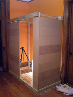 No cost homemade photo booth pinterest cardboard boxes photo build your own photo booth to document the day solutioingenieria Image collections