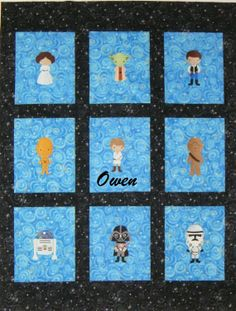 Embroidered Star Wars Baby Quilt / Blanket - Personalized With Name - You Choose…