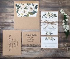 Your place to buy and sell all things handmade Lace Invitations, Wedding Invitation Paper, Invitation Envelopes, Card Envelopes, Floral Invitation, Rustic Wedding, Wedding Ideas, Boho, Elopements
