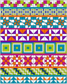 """AQS Row-By-Row finished quilt with 1"""" finished row-quilt-spacers"""