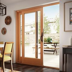Style Line Series Sliding Patio Doors Milgard Windows . 50 Series Gliding Patio Door With Blinds American . Home and Family Best Sliding Glass Doors, Wooden Sliding Doors, Sliding French Doors, Glass French Doors, French Doors Patio, Wood Doors, French Patio, Entry Doors, Sliding Panels