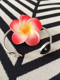 Onix and silver bracelet