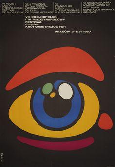 Poster design by Waldemar Swierzy for Short Film Festival held in Krakow, Poland 1967.