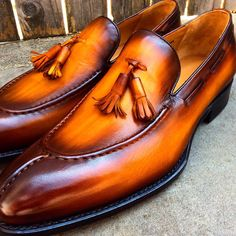 """terrycorbettco: """" Terry Corbett's Handmade to Order Tassel Loafers. Inbox me for pricing… """""""