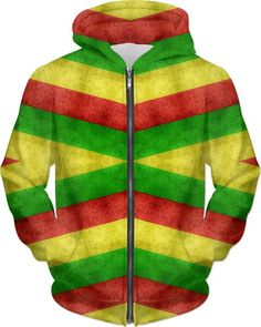 420 flag pattern, weed style all-over-print hoodie, three color stripes, red, yellow, green lines hooded sweatshirt, unisex fit - for more art and design be sure to visit www.casemiroarts.com, item printed by RageOn at www.rageon.com/a/users/casemiroarts - also available at www.casemiroarts.com - This product is hand made and made on-demand. Expect delivery (aproximate time frames) to US in 11-23 business days (international 14-33 business days). #hoodies #clothing #style #apparel