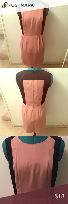 """Oasis (UK Brand) Classic Sheath Dress Salmon Sz 4 Great condition, no signs of wear. Classy rose pink / salmon color dress with black accents. Sheath dress that is 34.5"""" long. Very high quality feel, perfect for work. US Size 4. Oasis Dresses"""