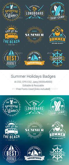 Summer Holiday Badges - Download…