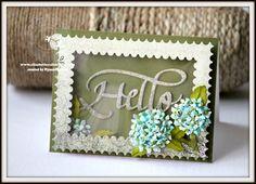 Elizabeth craft designs , Hydrangea , handmade flower , handmade card , Susan's Garden Flower