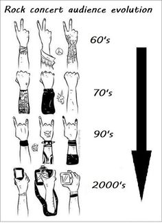 Rock concert audience evolution