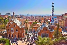 Parc Guell, Barcelona. 76 mls from Cambrils Park