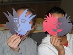 I have done this activity for both Art to teach Positive and Negative space and for Math to teach Symmetry.  The students love it as they can be creative...