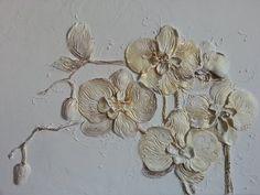 Цветы. - Скульптура и лепка - Лепные панно и барельефы