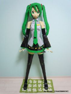 Life size Lego statue of Hatsune Miku because, why not?
