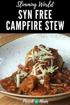 Campfire Stew - Pinch Of Nom Campfire Stew Slimming World, Slow Cooker Slimming World, Slimming World Free, Slimming World Dinners, Slimming World Recipes Syn Free, Slimming Eats, Slimming World Lunch Ideas, Slimming World Chicken Recipes, Per Diem