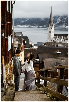 Hallstatt is one of the most spectacular and iconic places on earth to get married! Austrian Village, Cloudy Weather, Wedding Locations, Wedding Venues, Elopement Ideas, Before Sunrise, Stay The Night, World Heritage Sites, Engagement Photos
