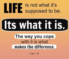The way we cope makes the difference