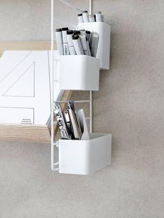 Design Werkplek thuis String Organizer storage box set of 3 Shelf System, Shelving Systems, Storage Boxes, Storage Shelves, Wand Organizer, String Regal, String Shelf, Design Bestseller, Swedish Design