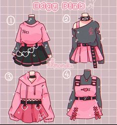 Cartoon Outfits, Anime Outfits, Fashion Design Drawings, Fashion Sketches, Teen Fashion Outfits, Fashion Art, Girl Outfits, Drawing Anime Clothes, Manga Clothes