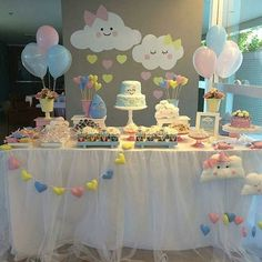 Baby Shower Decorations 345299496430286241 - Baby Shower Ides Decoracion Nubes Ideas For 2019 Source by lizzyvaley Cloud Baby Shower Theme, Idee Baby Shower, Fiesta Baby Shower, Shower Bebe, Girl Shower, Baby Shower Favors, Baby Shower Parties, Shower Party, Girly Baby Shower Themes