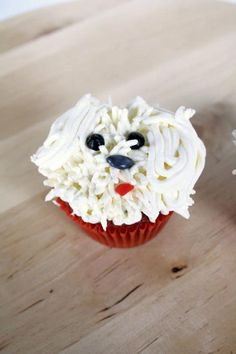 bichon frise cupcake! <3  If bichon cupcakes are wrong, I don't want to be right!!