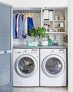 Basement Laundry Room ideas for Small Space (Makeovers) 2018 Small laundry room ideas Laundry room decor Laundry room storage Laundry room shelves Small laundry room makeover Laundry closet ideas And Dryer Store Toilet Saving Tiny Laundry Rooms, Laundry Room Remodel, Basement Laundry, Laundry In Bathroom, Small Laundry Closet, Small Laundry Space, Small Closets, Small Utility Room, Laundry Closet Makeover