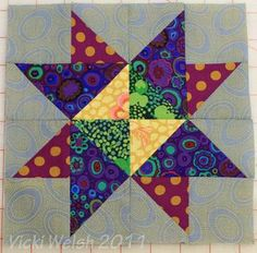 Blogger's Block of the Month, it's my turn! - Field Trips in Fiber - Adventures in quilting, hand dyed fabric and fiber art.