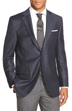 Free shipping and returns on Peter Millar Classic Fit Plaid Wool Sport Coat at Nordstrom.com. Handsome tonal plaid marks a well-made sport coat cut from pure wool with a canvas chest piece for a more natural fit.
