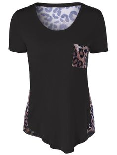 SHARE & Get it FREE | Asymmetrical Leopard Single Pocket T-ShirtFor Fashion Lovers only:80,000+ Items • New Arrivals Daily • Affordable Casual to Chic for Every Occasion Join Sammydress: Get YOUR $50 NOW!